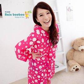 ●Rainbooboo●甜美桃紅白點 無毒親子雨衣/兒童雨衣 / 時尚雨衣105-120CM【G1030】