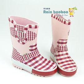 Rain booboo 草莓粉紅 兒童雨鞋/雨靴 【鋪綿+加墊+抗滑】橡膠環保抗菌【PA001】