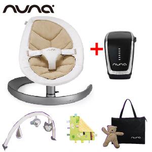 【贈專用玩具條+安撫巾+收納袋+玩偶(隨機)】荷蘭【Nuna】Leaf Curv搖搖椅(5色)+驅動器
