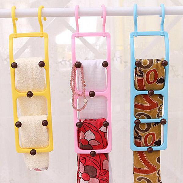 BO雜貨【YV4130】糖果色多功能雙掛鈎 掛勾 衣帽架 絲巾掛 圍巾 領帶 衣物收納