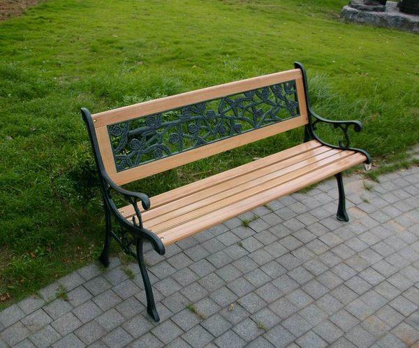 BROTHER 兄弟牌雙人鑄鐵公園椅 (附玫瑰花椅背)