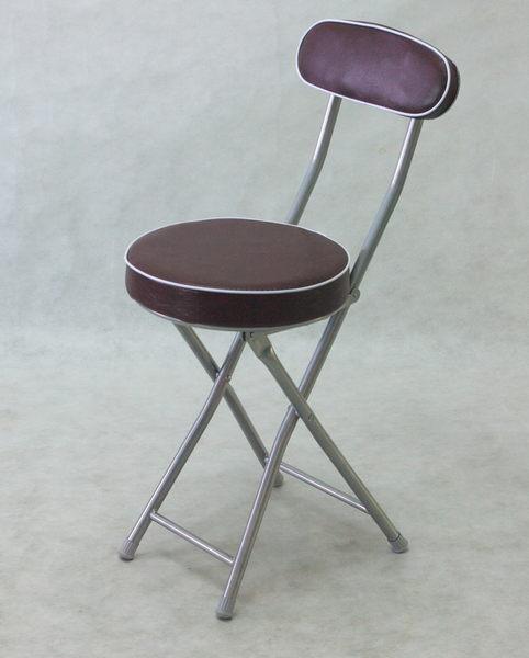 BROTHER兄弟牌丹堤有背折疊椅( 咖啡色)~PU加厚座墊設計,促銷價449元1 張/箱