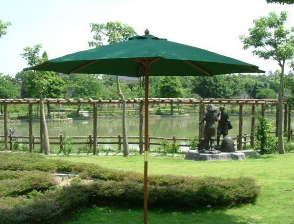 BROTHER 兄弟牌九尺綠色木製太陽傘 (270cm)