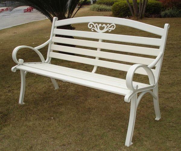 兄弟牌雅典鋁合金雙人公園椅-白色~結構堅固耐用~庭園休閒必備~!!