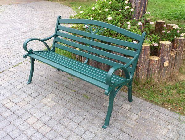 Brother 兄弟牌戶外風情~雅典鋁合金雙人公園椅(墨綠色)~結構堅固耐用~庭園休閒必備~新貨到!!