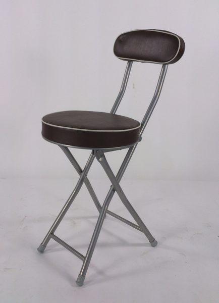 BROTHER 兄弟牌丹堤有背折疊椅(黑色 )~PU加厚座墊設計,促銷價449元1 張/箱~家居休閒必備!