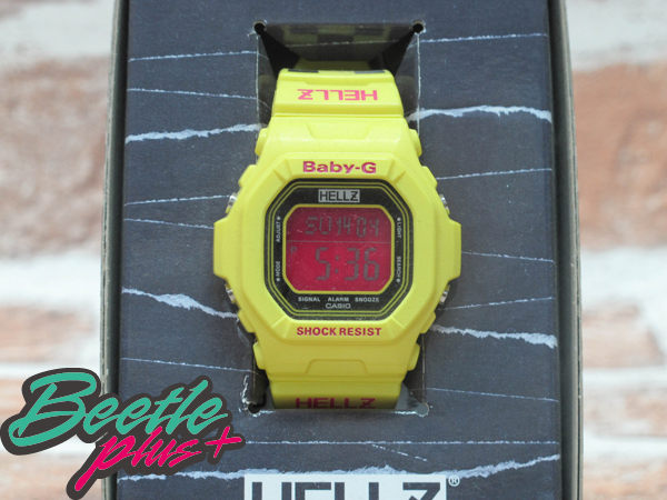 BEETLE PLUS 西門町 CASIO THE HELLZ BELLZ x BABY-G 5600 聯名 電子 手錶 黃色 黑格紋