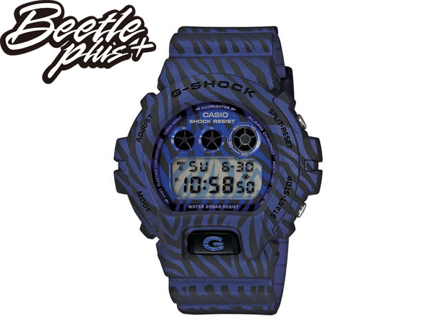 BEETLE PLUS 全新 2014 CASIO G-SHOCK DW-6900ZB-2DR 紫 藍 斑馬 迷彩 紋路 叢林 三顯 手錶 卡西歐 WATCH