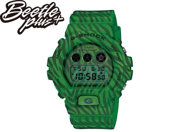 BEETLE PLUS 全新 2014 CASIO G-SHOCK DW-6900ZB-3DR 綠 斑馬 迷彩 紋路 西瓜 叢林 三顯 手錶 卡西歐 WATCH