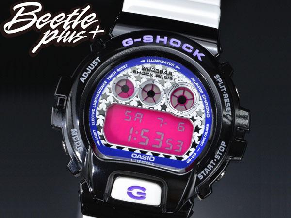 BEETLE PLUS 全新 CASIO G-SHOCK DW-6900SC-1DR 黑 白 桃紅 星星錶面 炫彩系列 殺人鯨 AJ11 電子錶 手錶 WATCH