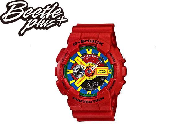 BEETLE PLUS 西門町 全新 CASIO G-SHOCK GA-110FC-1ADR 紅 雙顯 限量 樂高 LED 卡西歐 指針錶 變型金剛