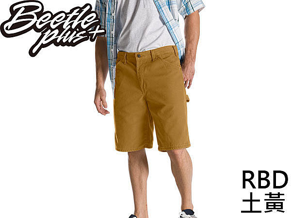 BEETLE PLUS DICKIES RELAXED FIT DX 201 RBD SHORTS 土黃 工作短褲 帆布