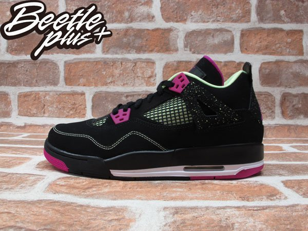 BEETLE PLUS NIKE AIR JORDAN 4 RETRO 30TH GG 黑紫 螢光 女鞋 705344-027