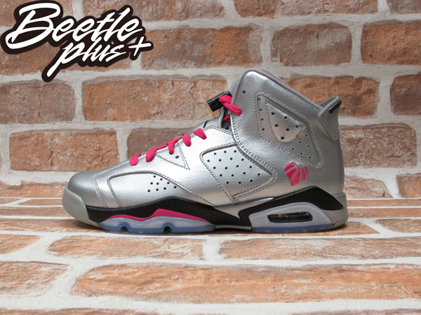 BEETLE PLUS NIKE AIR JORDAN 6 RETRO GG LOVE SILVER 粉銀 喬丹 情人節 543390-009 C-972