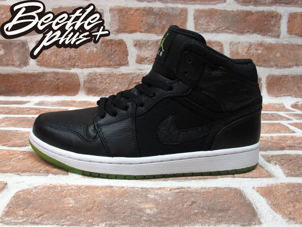 BEETLE PLUS 全新 NIKE AIR JORDAN 1 PHAT AJ1 BLACK ACTION GREEN AJ1 全黑 綠底 364770-007