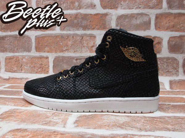 BEETLE PLUS NIKE AIR JORDAN 1 PINNACLE 黑金 全黑 蛇紋 24K金 喬丹 金標 705075-030