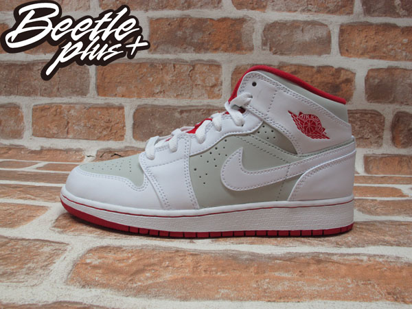 BEETLE NIKE AIR JORDAN 1 MID GS HARE 華納 兔寶寶 白灰 紅 719554-123