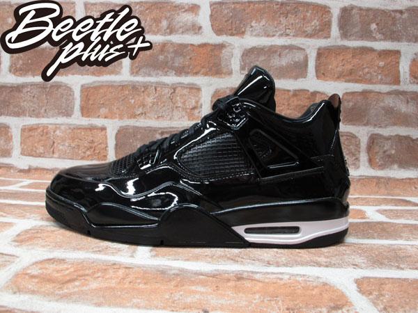 BEETLE NIKE AIR JORDAN 11LAB4 全黑 黑白 漆皮 亮皮 11代 4代 男鞋 籃球鞋 719864-010