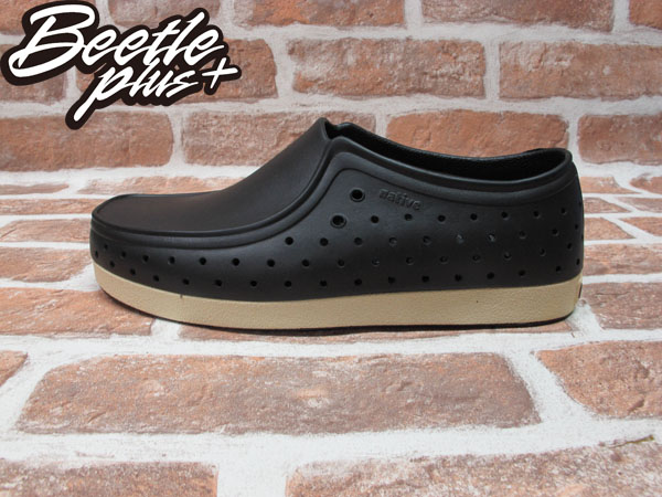 BEETLE PLUS 西門町正規經銷 現貨 NATIVE CORRADO 抗菌 黑白 奶油底 袋鼠鞋 GLM03-001