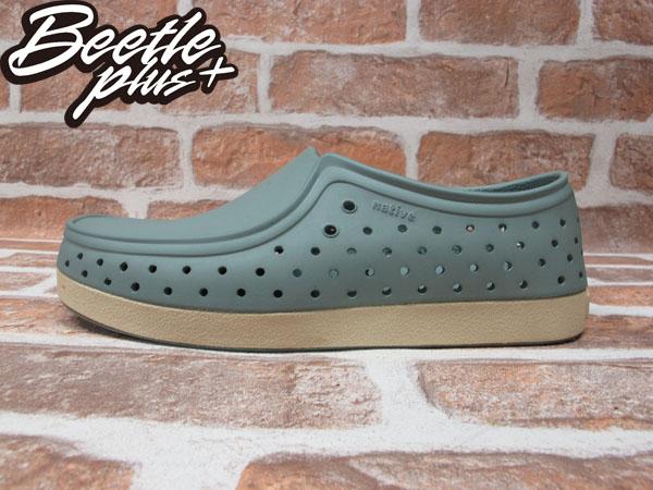 BEETLE PLUS 西門町經銷 現貨 NATIVE CORRADO SHUTTLE GREY 抗菌 淺灰綠 袋鼠鞋 GLM03-066