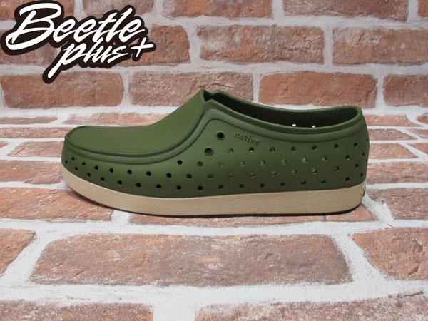 BEETLE PLUS 西門町經銷 現貨 NATIVE CORRADO SHERWOOD GREEN 抗菌 軍綠 墨綠 袋鼠鞋 GLM03-349