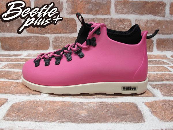 BEETLE PLUS 西門町經銷 全新 加拿大品牌 NATIVE FITZSIMMONS BOOTS 超輕量 登山靴 HP PINK VIVI 粉紅 女鞋 GLM06-690
