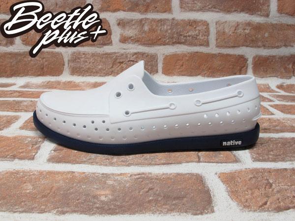 西門町 BEETLE PLUS 全新 NATIVE HOWARD 白藍 雷根 深藍 白 雙色 WHITE BLUE 帆船鞋 GLM11-118