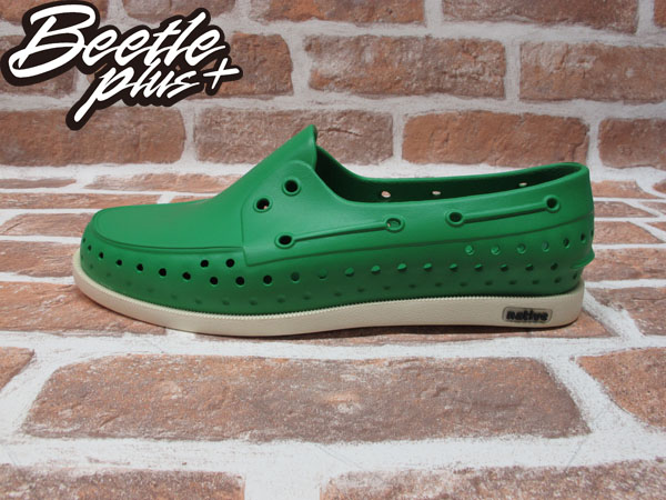 BEETLE PLUS 全新 現貨 NATIVE HOWARD PICNIC GREEN 雷根 呼吸 蔬菜綠 帆船鞋 奶油底 GLM11-360