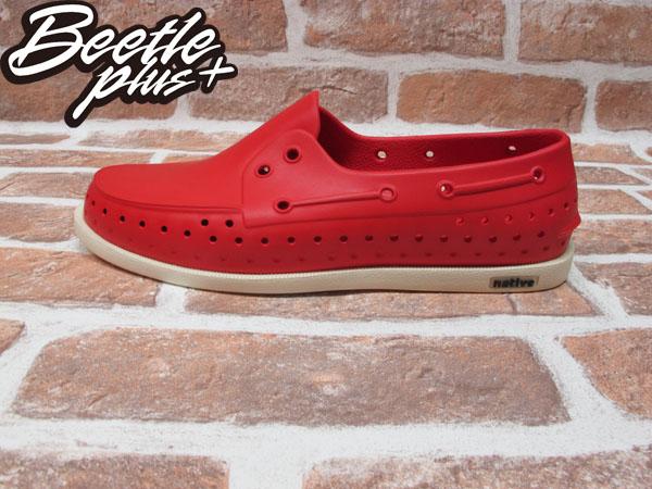 BEETLE PLUS 西門町專賣 全新 2011 加拿大 NATIVE HOWARD 奶油底 紅色 RED 帆船鞋 GLM11-642