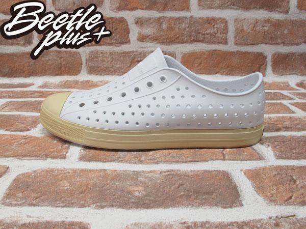 BEETLE PLUS 西門町經銷 現貨 NATIVE JEFFERSON SHELL WHITE 超輕量 便鞋 白色 米白 奶油頭 GLM01-110