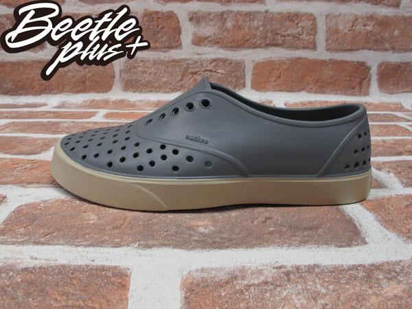 西門町實體店面 BEETLE PLUS 加拿大 NATIVE MILLER 超輕量 便鞋 鐵灰色 GREY 奶油底 GLM02-061