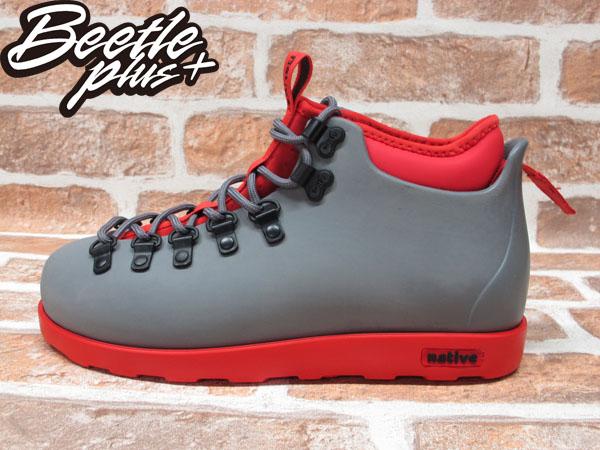 西門町專賣 BEETLE PLUS 全新 加拿大 NATIVE FITZSIMMONS BOOTS 灰紅 超輕量 登山靴 GLM06-964