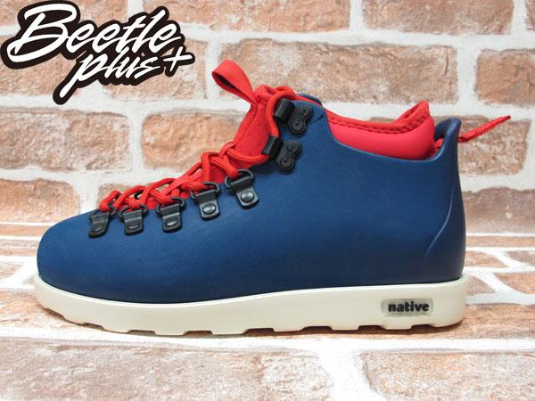 西門町專賣 BEETLE PLUS 全新 加拿大 NATIVE FITZSIMMONS BOOTS 藍紅 超輕量 登山靴 GLM06-962