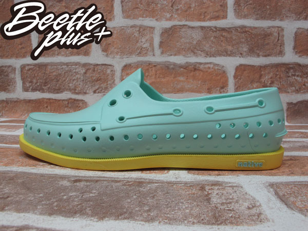 BEETLE PLUS 2013 春夏 NATIVE HOWARD JULEP GREEN MELLOW YELLOW TIFFANY 綠黃 雷根 雙色 帆船鞋 GLM11-331