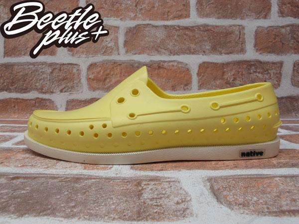 BEETLE PLUS 2013 春夏新款 全新 NATIVE HOWARD 輕量 呼吸 奶油 MELLOW YELLOW 鵝黃 帆船鞋 GLM11-740