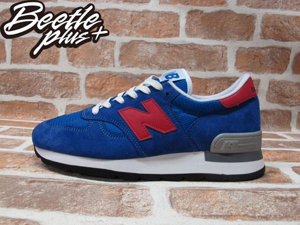 BEETLE PLUS 全新 NEW BALANCE 寶藍 紅N 慢跑鞋 麂皮 網面 30週年 英國限量 M990SB