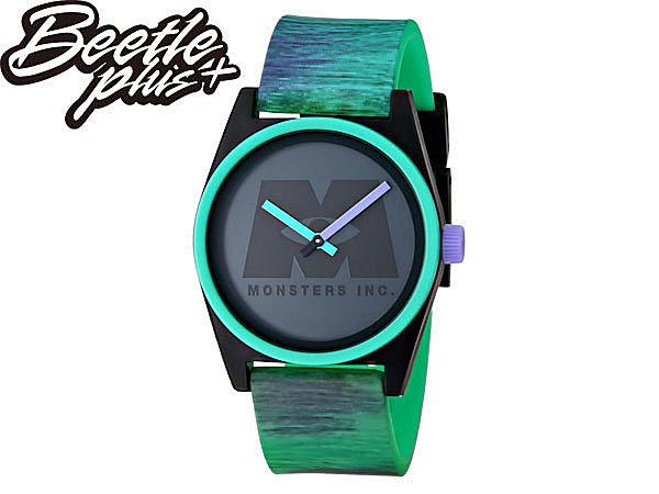 BEETLE PLUS NEFF MONSTER DAILY 怪獸大學 大眼仔 毛怪 指針 黑 藍 漸層 手錶 WATCH NF-100