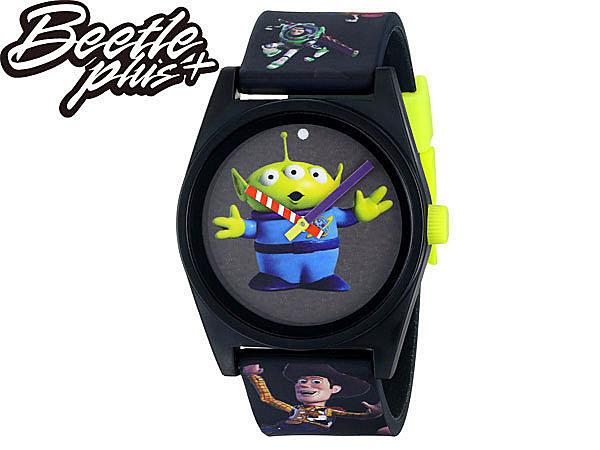 BEETLE PLUS NEFF TOY STORY DAILY 三眼怪 胡迪 巴斯光年 玩具總動員 黑 螢光 指針 手錶 WATCH NF-99