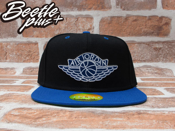 BEETLE PLUS NIKE AIR JORDAN SNAPBACK AJ1 黑藍 翅膀 LOGO 後扣棒球帽 519590-010