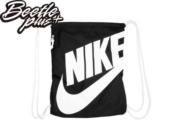 BEETLE PLUS 全新 台灣未發 NIKE LOGO 黑白 口袋 夾層 拉鍊 束口袋 束口包 後背包 BA3329-011