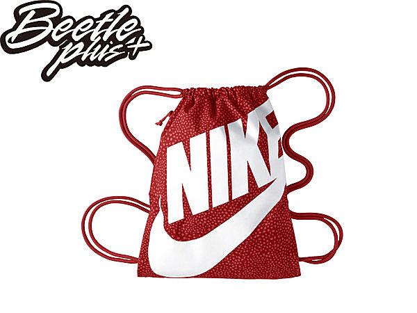 BEETLE PLUS NIKE HERITAGE GYMSACK 拉鍊 束口袋 後背包 健身 紅 BA3329-696