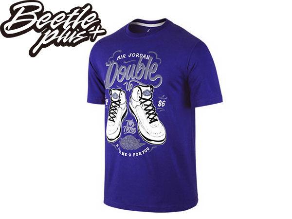 BEETLE PLUS 全新 現貨 NIKE AIR JORDAN DOUBLE UP 2代 AJ 23 紫白 棉質 運動 短TEE 615116-423 AJ-14