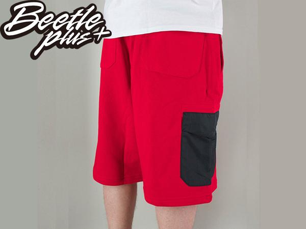 BEETLE NIKE BB HYBRID 6TH DORM SHORTS RED 紅黑 口袋 拉鍊 短褲 棉褲 球褲