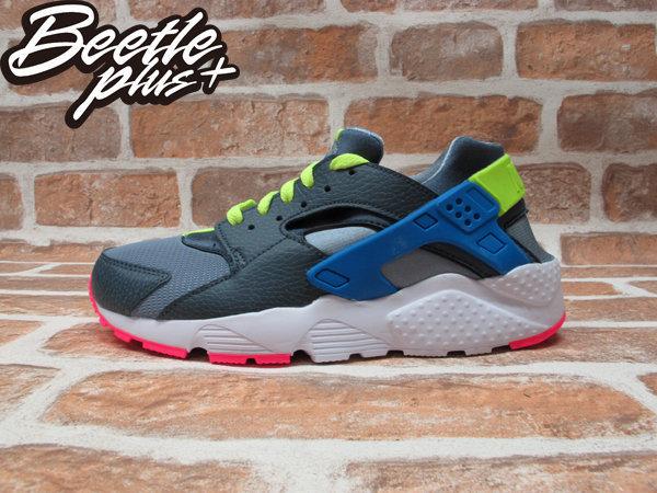 BEETLE PLUS NIKE AIR HUARACHE GS 鐵灰 藍黃 粉紅 女鞋 忍者鞋 654275-002