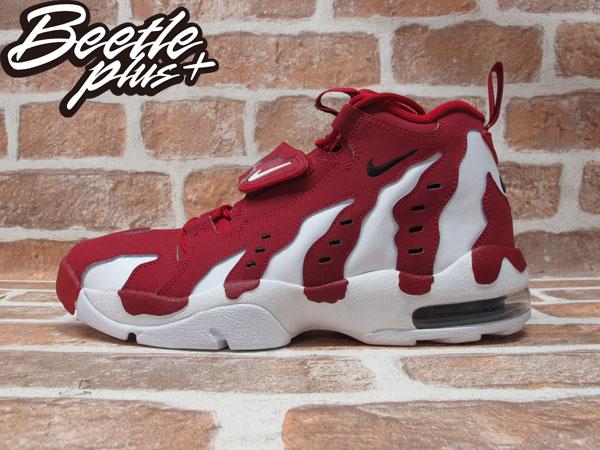 BEETLE PLUS 全新 現貨 AIR DT MAX'96 紅白 魔鬼氈 大氣墊 籃球鞋 麂皮 爪痕 火焰 316408-600