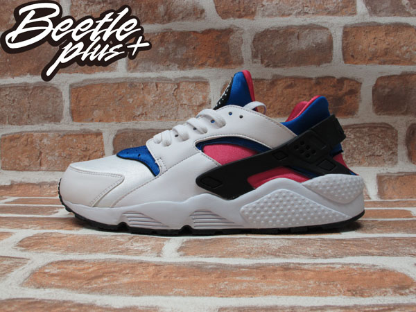 BEETLE PLUS 全新 NIKE AIR HUARACHE DYNAMIC PINK 白 粉紅 藍 NSW 318429-146