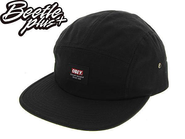 BEETLE PLUS 美國品牌 OBEY SARGE 5 PANEL 黑 LOGO 小車標 五片 五分帽 100140223BLK OB-220