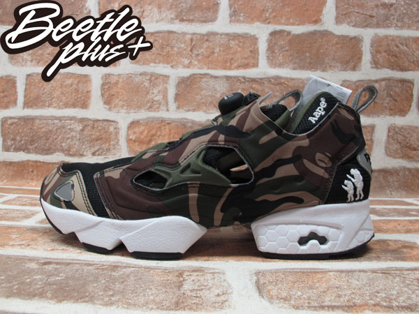 BEETLE PLUS 全新 REEBOK PUMP FURY X AAPE BY A BATHING APE 聯名款 CAMP 迷彩 充氣墊 V53879
