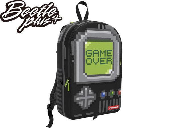 BEETLE PLUS 全新 SPRAYGROUND 超強功能性 後背包 PIXEL GAME OVER 遊戲機 BLACK 黑 灰 綠 SP-28