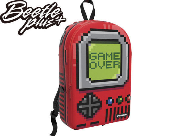 BEETLE PLUS 全新 SPRAYGROUND 超強功能性 後背包 PIXEL GAME OVER 遊戲機 RED 紅 灰 綠 SP-31